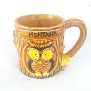 Vintage Owl Coffee Mug Montana